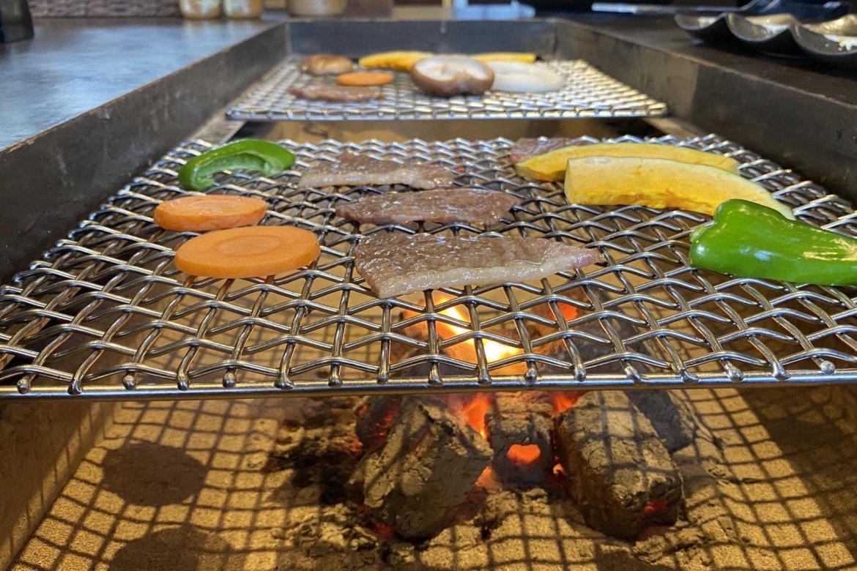 囲炉裏を使ったお肉・野菜プラン販売開始しました