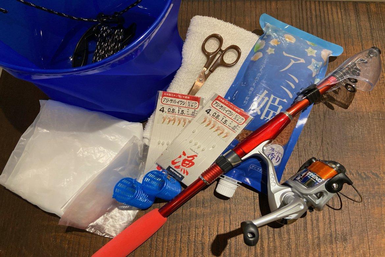日本色で釣りセットのレンタルを開始します!